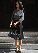 クロエブティックブラックのスカート<font color=9A9A9A><br>ブラックのラベル</font>